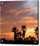 Sunset Sky Over Baja Acrylic Print