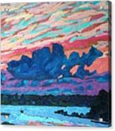 Sunset Snails Acrylic Print