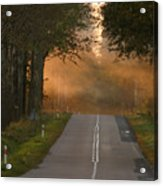 Sunset Somewhere On The Road Acrylic Print