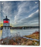 Sunset, Squirrel Point Lighthouse Acrylic Print