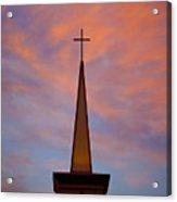 Sunset Steeple Acrylic Print