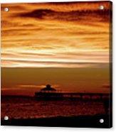 Sunset Stroll Along The Beach 2582 H_2 Acrylic Print