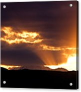 Sunset Sunbeams Acrylic Print