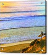 Sunset Surf At La Jolla Acrylic Print