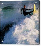 Sunset Surfing Acrylic Print