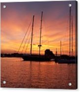 Sunset Tall Ships Acrylic Print