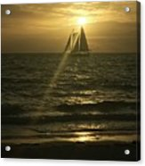 Sunset Through Sailboat Acrylic Print