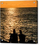 Sunset Together In Key West Acrylic Print