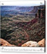 Sunset Tour Valley Of The Gods Utah Text 04 Acrylic Print