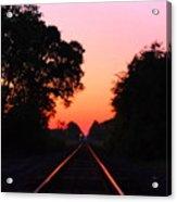 Sunset Track Acrylic Print