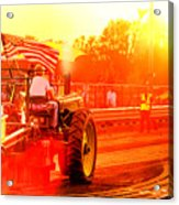 Sunset Tractor Pull Acrylic Print