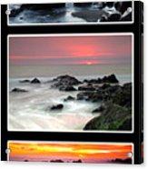 Sunset Triptych Acrylic Print