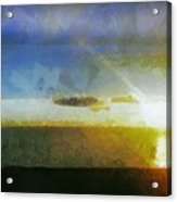 Sunset Under The Clouds Acrylic Print