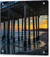 Sunset Under The Ventura Pier Acrylic Print