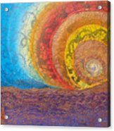Sunset Unfurls Over Purple Sea Acrylic Print