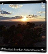 Sunset Valley Of The Gods Utah 01 Text Black Acrylic Print