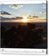 Sunset Valley Of The Gods Utah 01 Text Acrylic Print