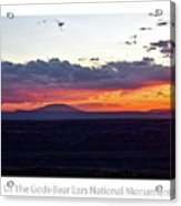 Sunset Valley Of The Gods Utah 05 Text Acrylic Print