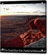 Sunset Valley Of The Gods Utah 09 Text Black Acrylic Print