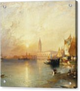 Sunset Venice Acrylic Print by Thomas Moran