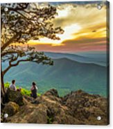 Sunset View At Ravens Roost Panorama Acrylic Print