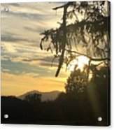 Sunset View From Olana  Acrylic Print