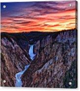 Sunset Waterfall Acrylic Print