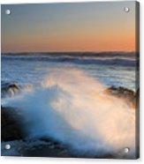 Sunset Wave Explosion Acrylic Print