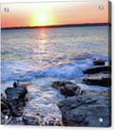 Sunset Waves Acrylic Print