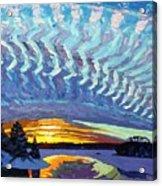 Sunset Waves Nite Acrylic Print