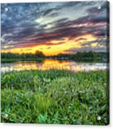 Sunset West Crooked Lake Acrylic Print