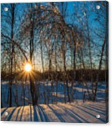 Sunset Winter Shadows Acrylic Print