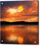 Sunset With A Golden Nugget Acrylic Print
