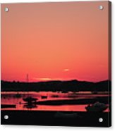 Sunset With Pink Afterglow Acrylic Print