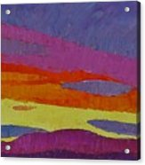 Sunset With Purple Clouds Acrylic Print