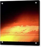 Sunset With Rain In Scenic Saskatchewan Acrylic Print