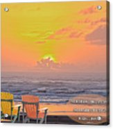 Sunset With Scripture Acrylic Print