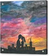 Sunset With You Acrylic Print