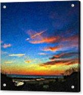Sunset X Impasto Acrylic Print