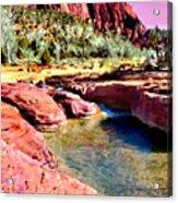 Sunset Zion National Park Acrylic Print