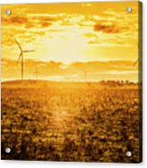 Sunsets And Golden Turbines Acrylic Print