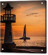 Sunsets And Sailboats Acrylic Print