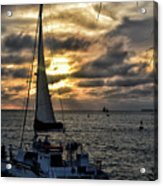 Sunsets And Sails Acrylic Print