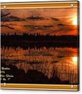 Sunsettia Gloria Catus 1 No. 1 L A. With Decorative Ornate Printed Frame. Acrylic Print