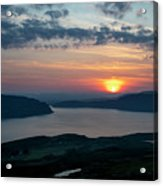 Sunsetting Over Portree, Isle Of Skye, Scotland. Acrylic Print