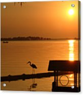 Sunsey On Lake Dora Acrylic Print