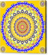 Sunshine And Blue Skies Mandala Acrylic Print