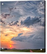 Sunshine And Storm Clouds Acrylic Print