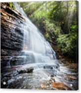 Sunshine At The Waterfall Acrylic Print