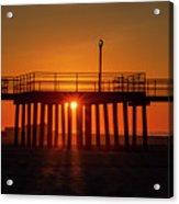 Sunshine At Wildwood Crest Pier Acrylic Print